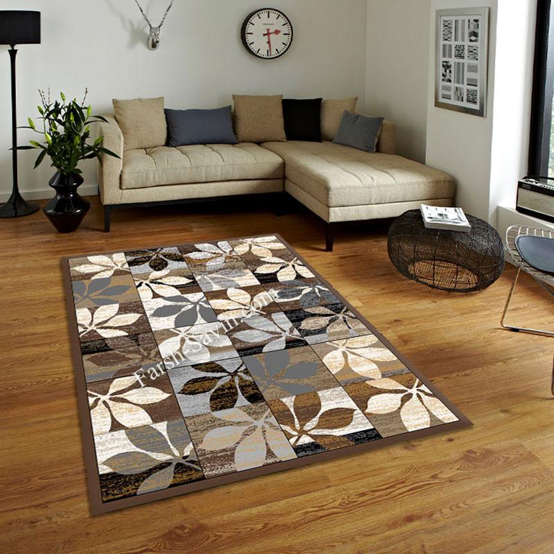 فرش ساوین 4039 نسکافه ای فرش با دوام