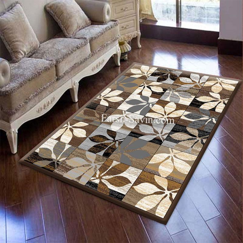 فرش ساوین 4039 نسکافه ای فرش آشپزخانه