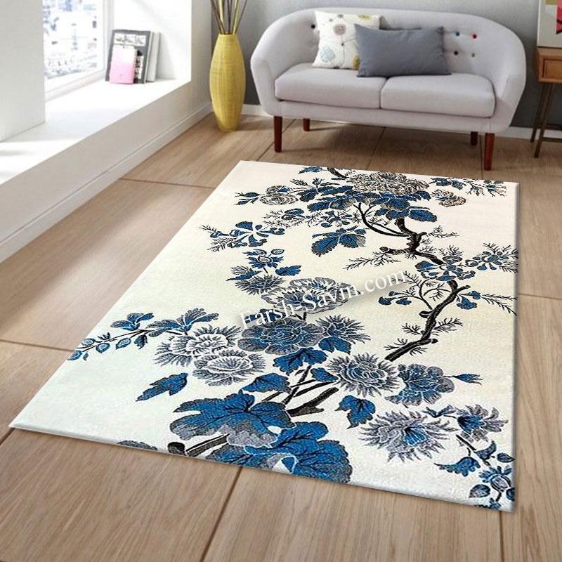فرش ساوین 4042 کرم فرش با کیفیت
