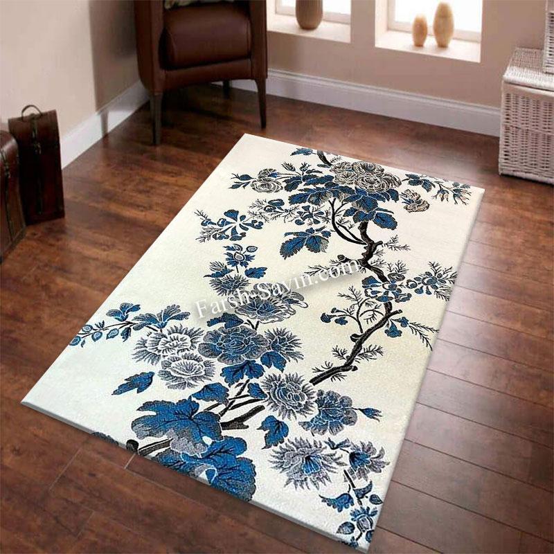 فرش ساوین 4042 کرم فرش مناسب اتاق خواب