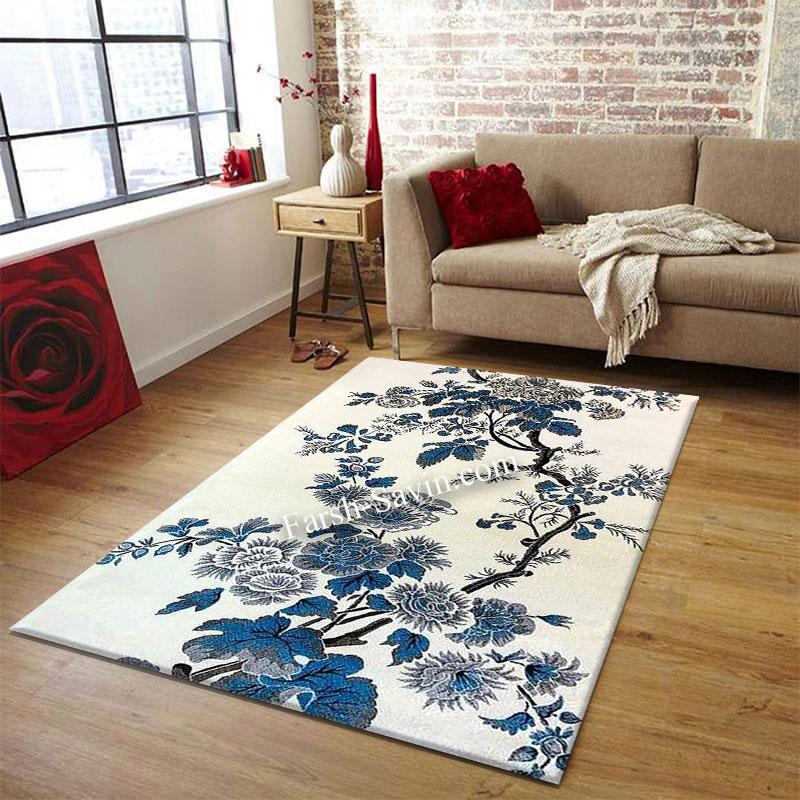فرش ساوین 4042 کرم فرش ارزان