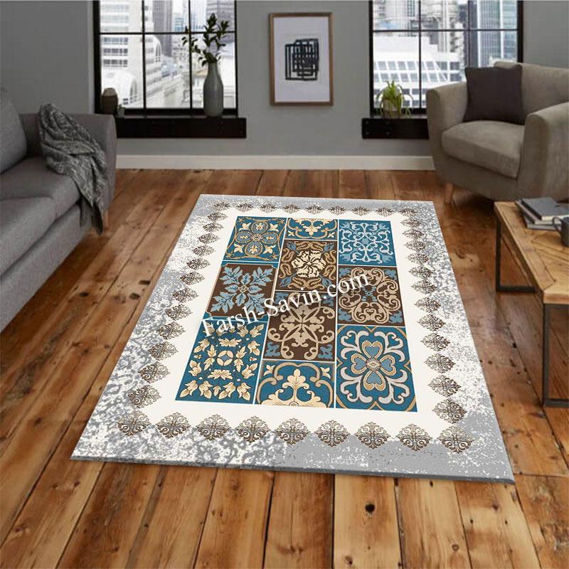 فرش ساوین 4046 کرم فرش با کیفیت
