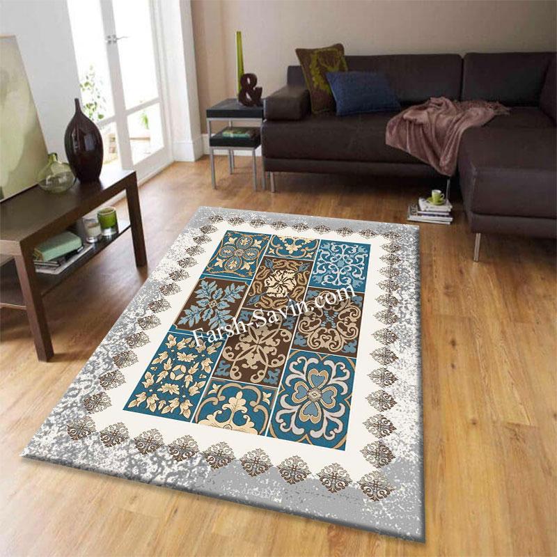 فرش ساوین 4046 کرم فرش فرش با کیفیت و شیک