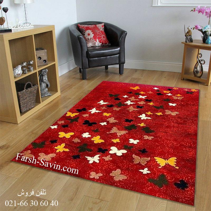 فرش ساوین 4054 لاکی فرش خوش نقشه