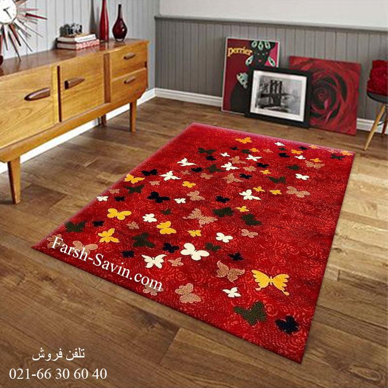 فرش ساوین 4054 لاکی فرش باکیفیت