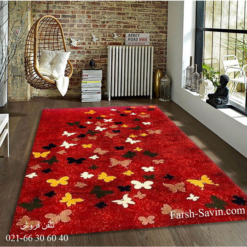 فرش ساوین 4054 لاکی فرش خاص