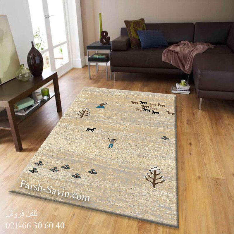 فرش ساوین 4065 کرم فرش پرفروش
