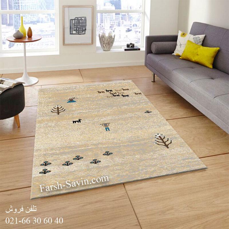 فرش ساوین 4065 کرم فرش خاص