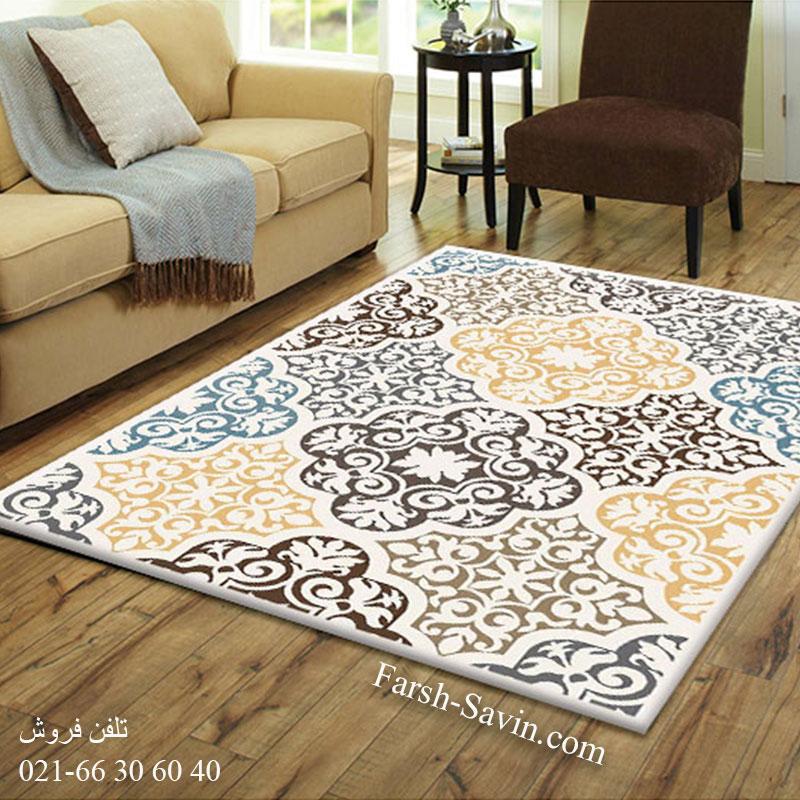 فرش ساوین 4073 کرم فرش خاص