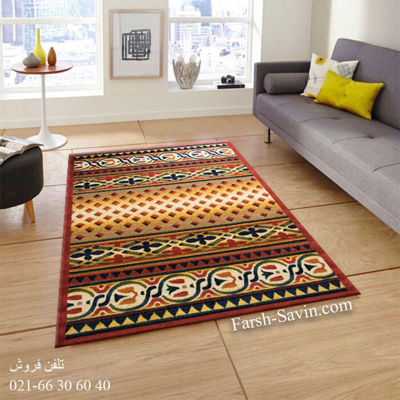 فرش ساوین ارکیده لاکی فرش زیبا