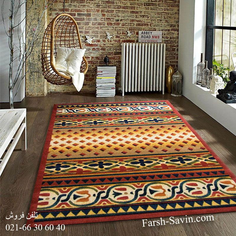 فرش ساوین ارکیده لاکی فرش خاص