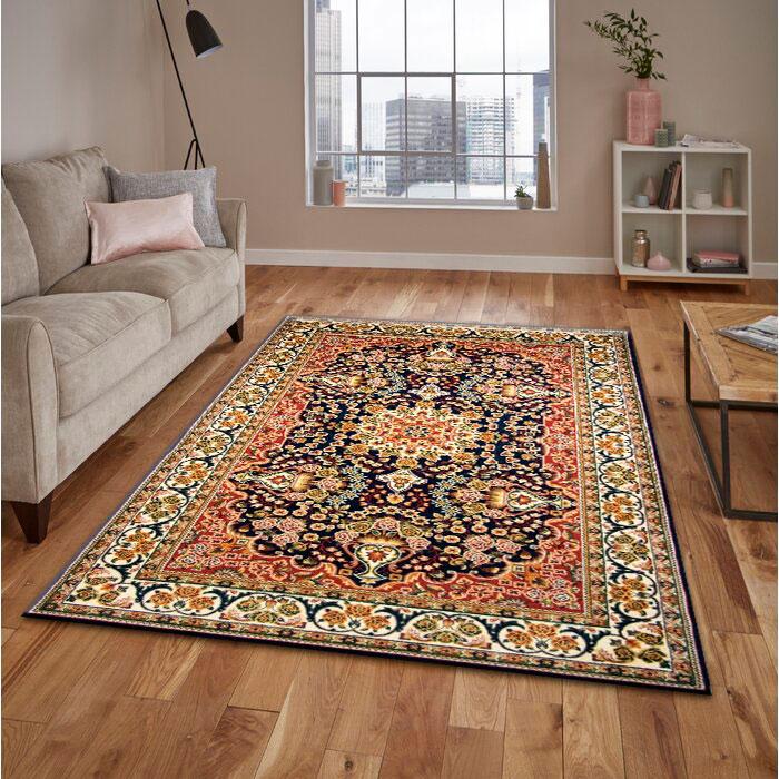 فرش ساوین افشار سرمه ای فرش پرفروش