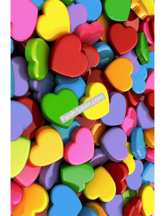 فرش ساوین کد7557 ابعاد 6 متری فانتزی طرح قلب
