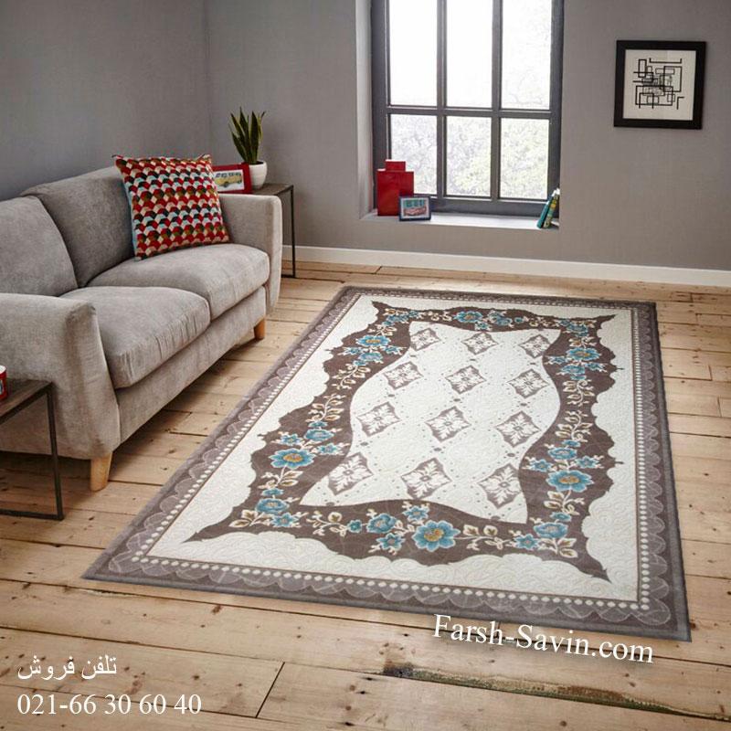 فرش ساوین 1507 آبی فرش خاص