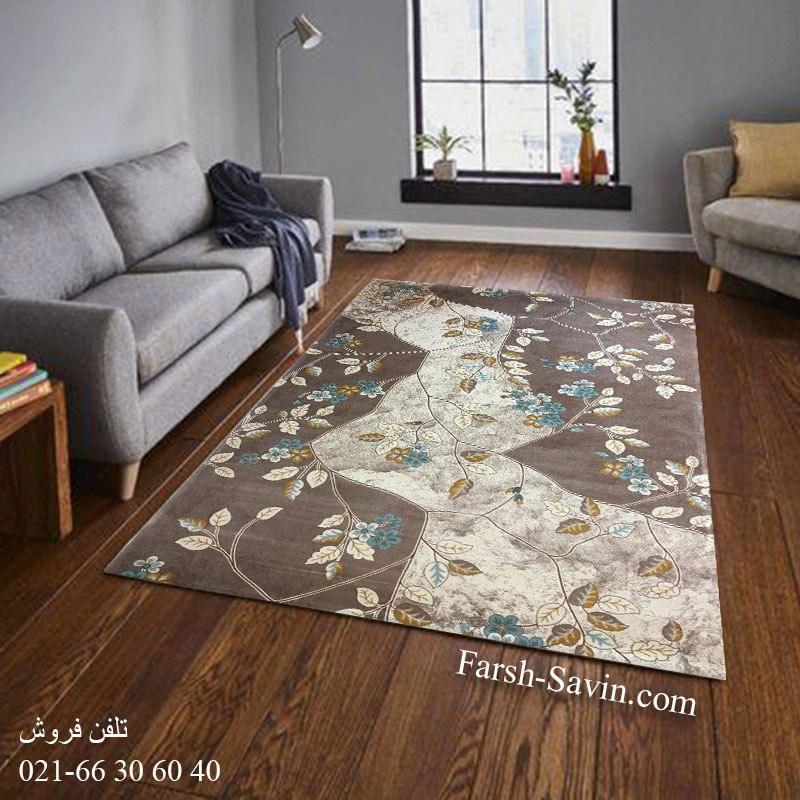 فرش ساوین 1512 آبی فرش مناسب آشپزخانه