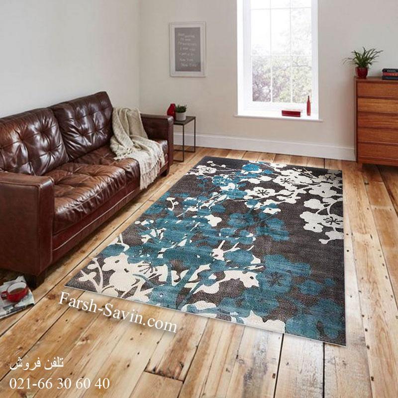 فرش ساوین 1520 آبی فرش خاص