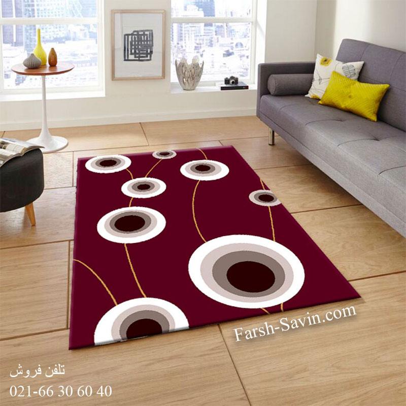 فرش ساوین بهرنگ زرشکی فرش با دوام