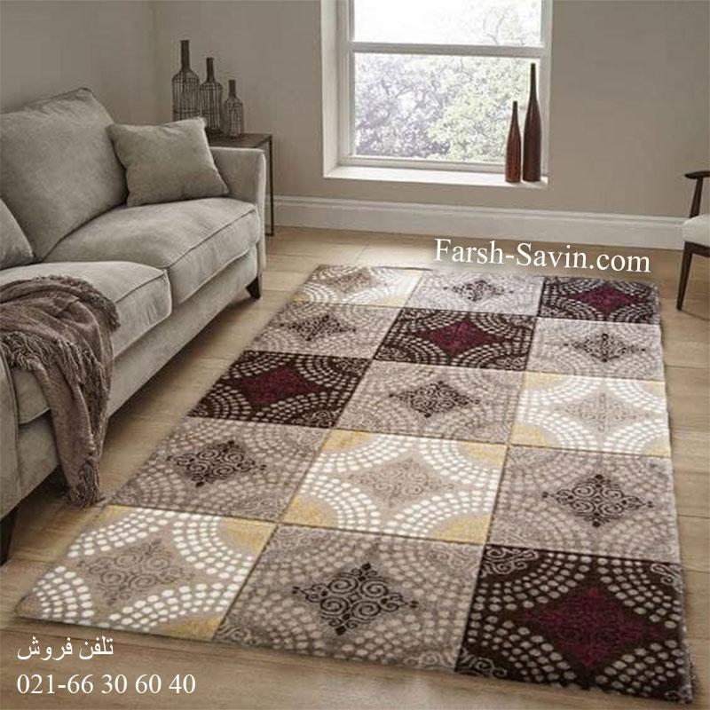 فرش ساوین گلاره شکلاتی فرش با کیفیت
