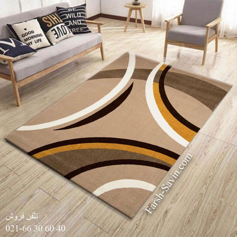 فرش ساوین پرهام شکلاتی فرش با کیفیت