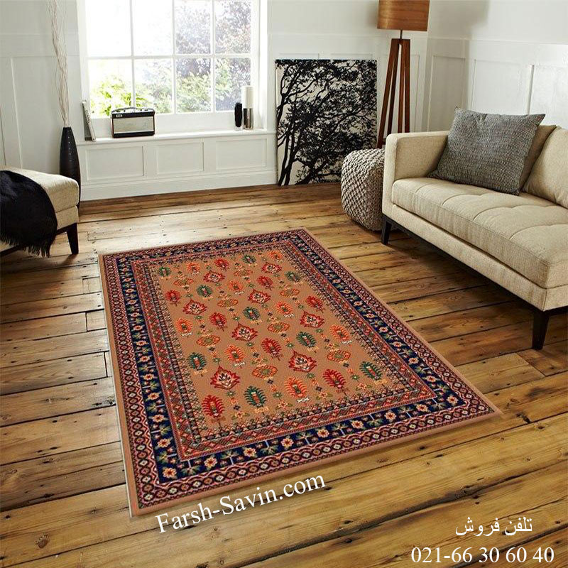 فرش ساوین سارگل شکلاتی فرش مناسب آشپزخانه