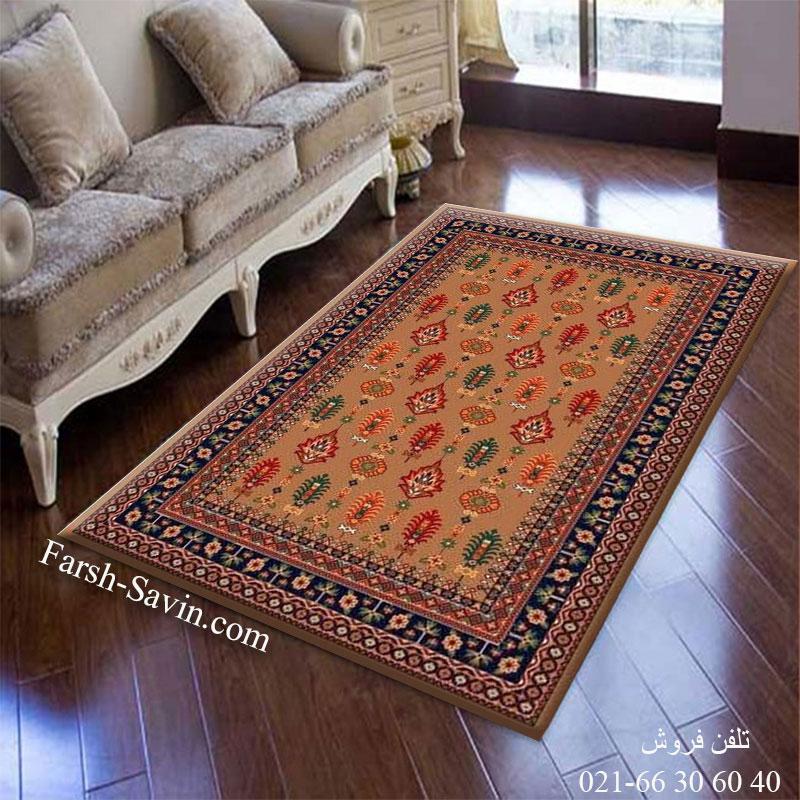 فرش ساوین سارگل شکلاتی فرش ارزان