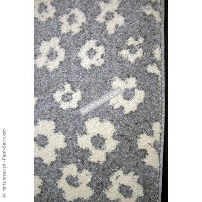 فرش ساوین 4007 نقره ای مدرن فانتزی
