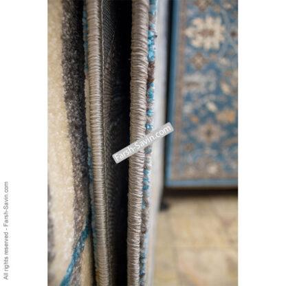فرش ساوین 4036 آبی مدرن فانتزی