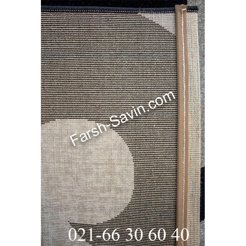 فرش ساوین 4009 مشکی فرش اتاق پذیرایی