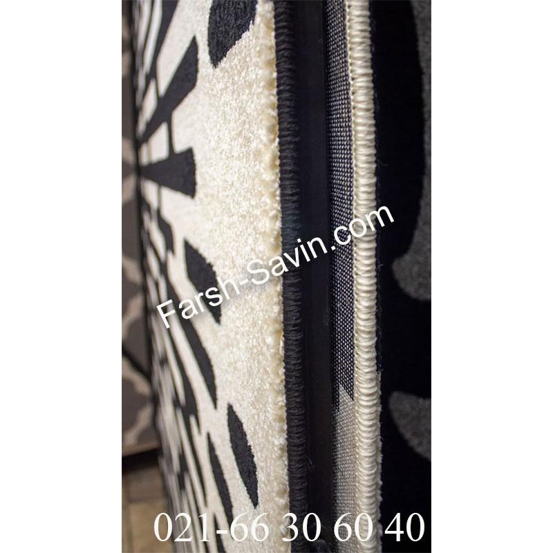 فرش ساوین 4020 مشکی فرش زیبا