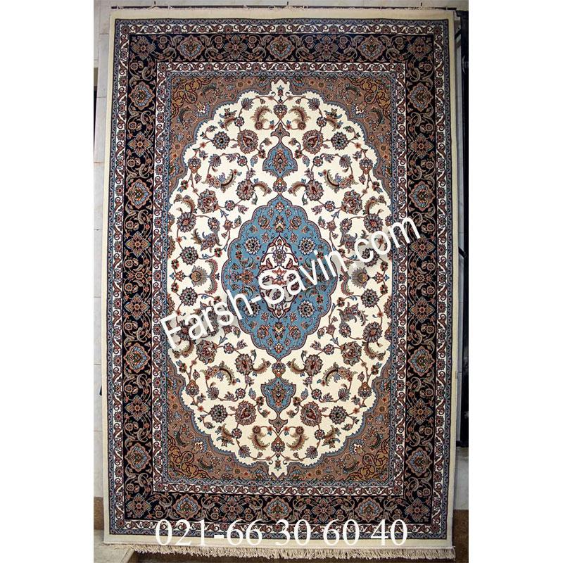 فرش ساوین 4504 کرم فرش ارزان
