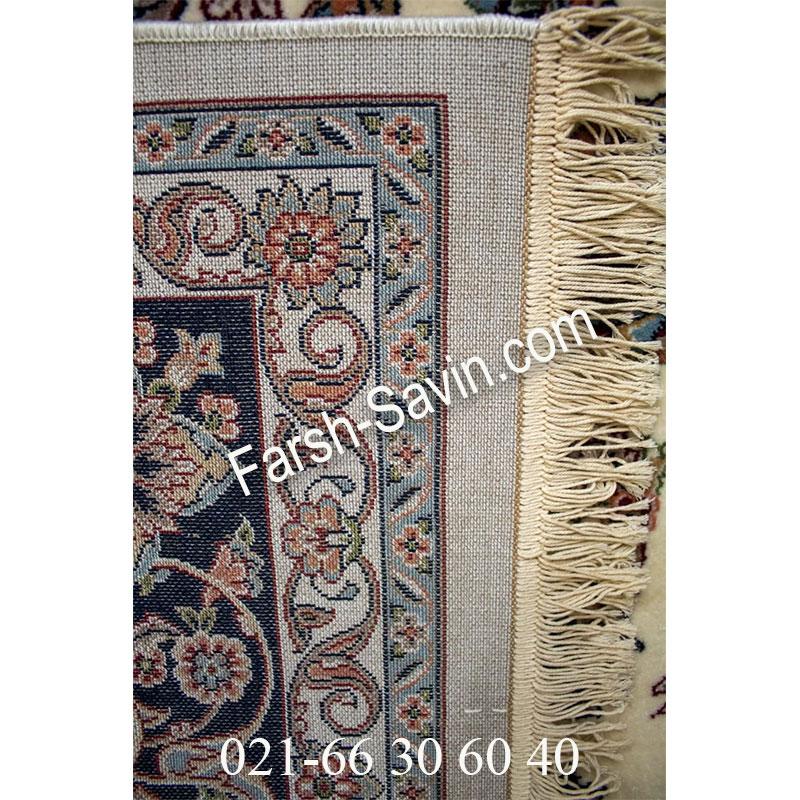 فرش ساوین 4504 کرم فرش طرح خاص