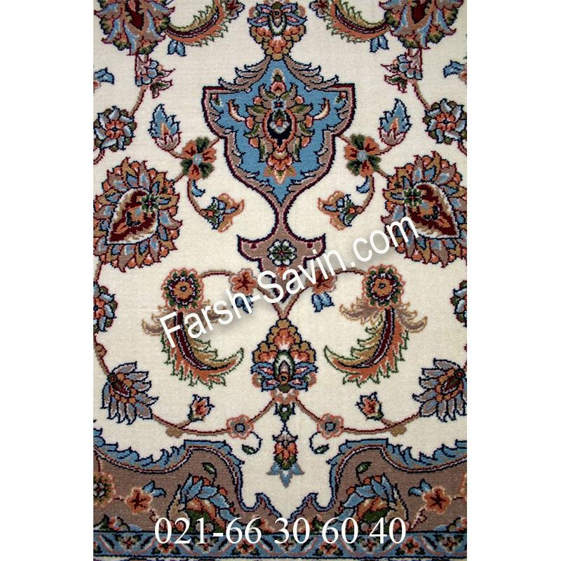 فرش ساوین 4504 کرم فرش آشپزخانه