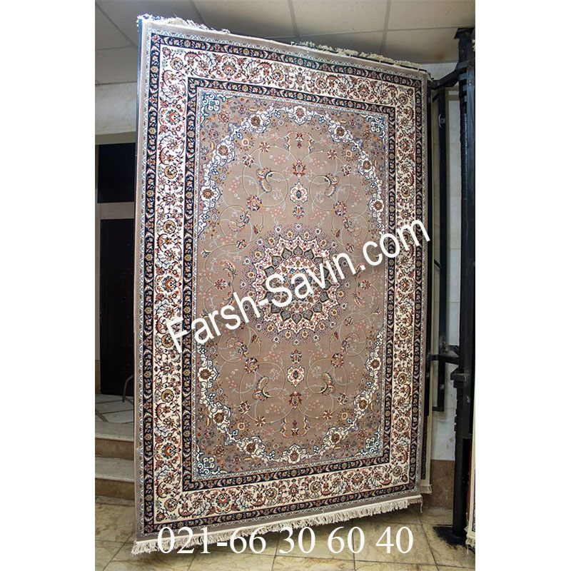 فرش ساوین 4509 شتری فرش ارزان