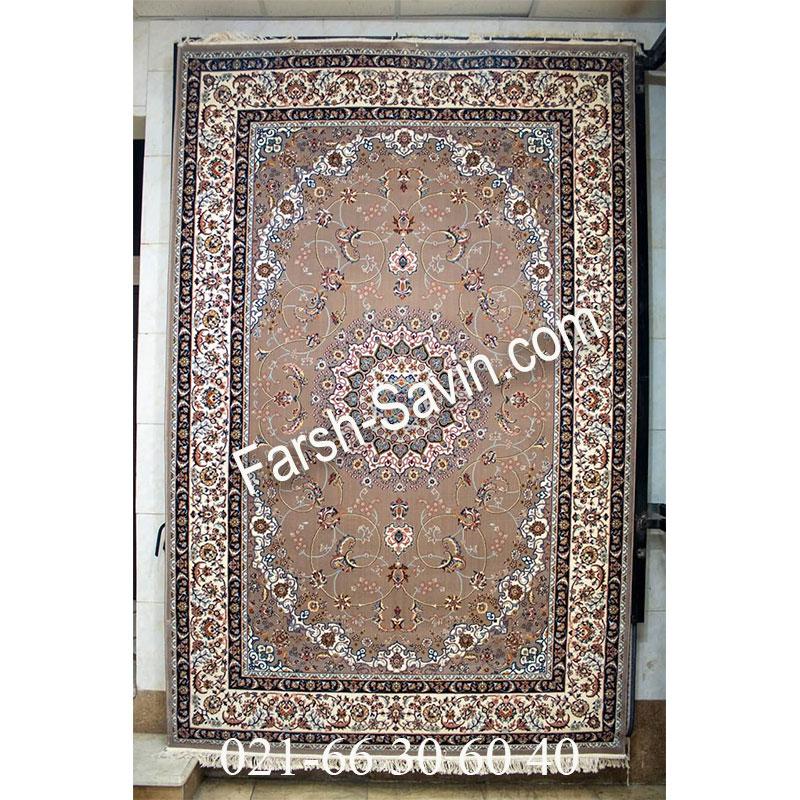 فرش ساوین 4509 شتری فرش با کیفیت