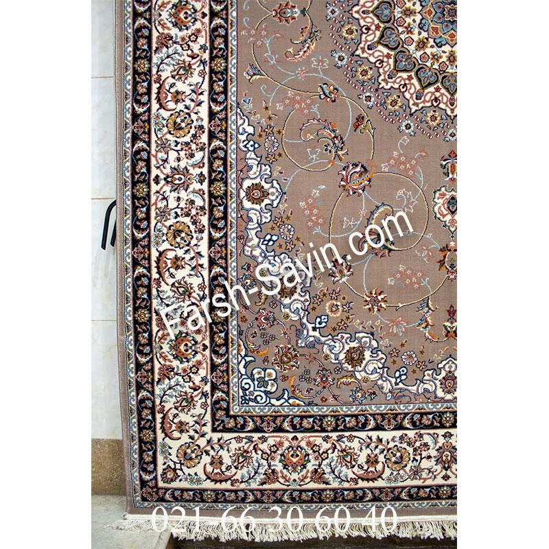 فرش ساوین 4509 شتری فرش زیبا