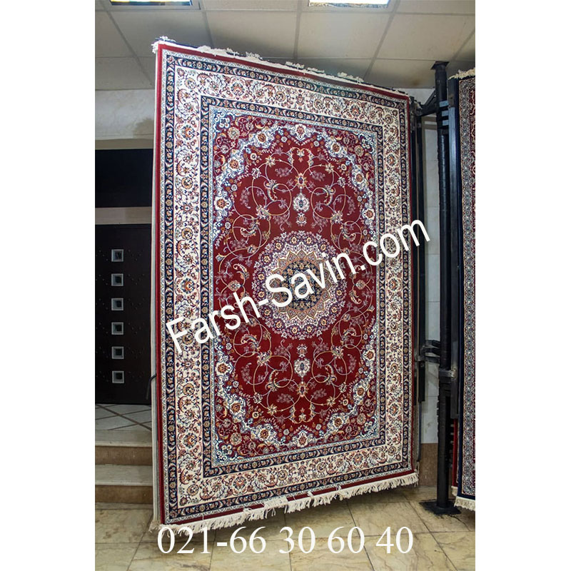 فرش ساوین 4509 لاکی فرش خوش رنگ