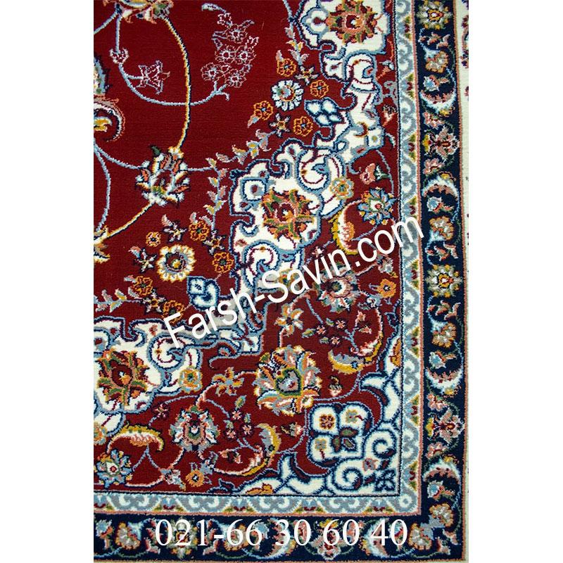 فرش ساوین 4509 لاکی فرش خوش نقشه