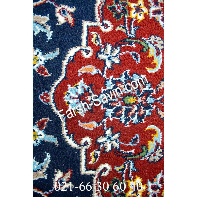فرش ساوین 4510 سرمه ای فرش خاص