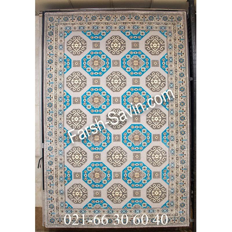 فرش ساوین 7400 نقره ای روشن فرش آشپزخانه