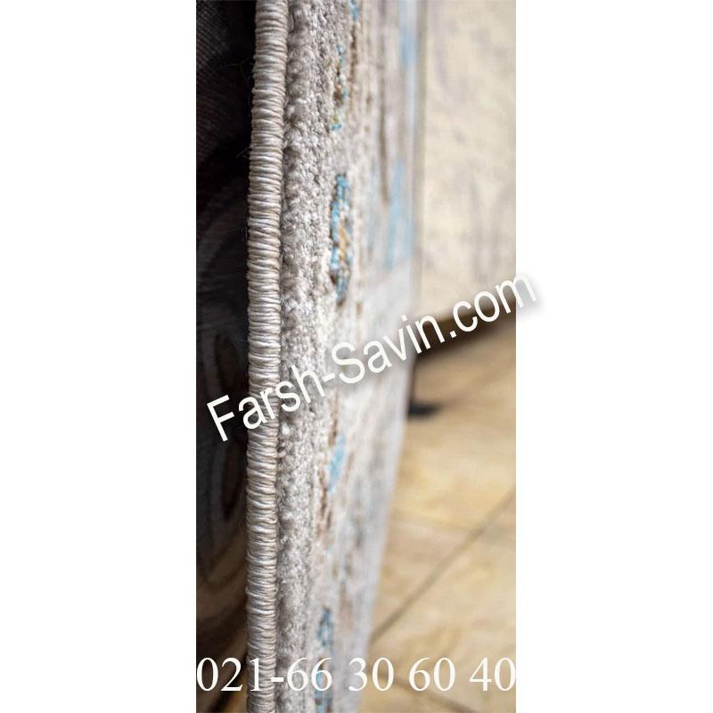 فرش ساوین 7400 نقره ای روشن فرش شکیل