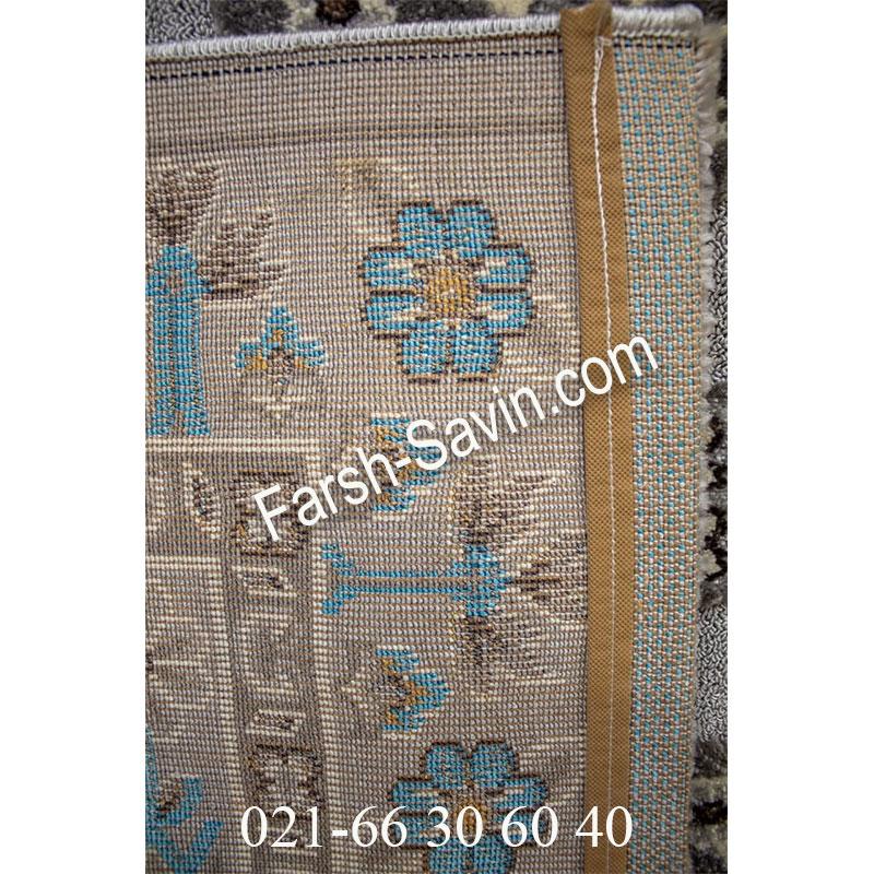 فرش ساوین 7400 نقره ای روشن فرش ارزان