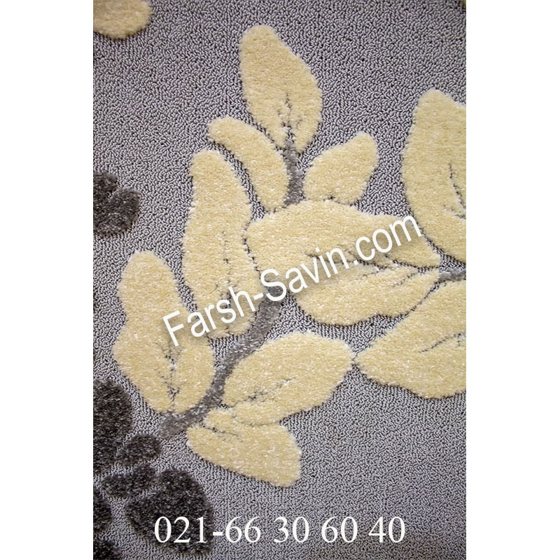 فرش ساوین 7402 نقره ای روشن فرش خاص