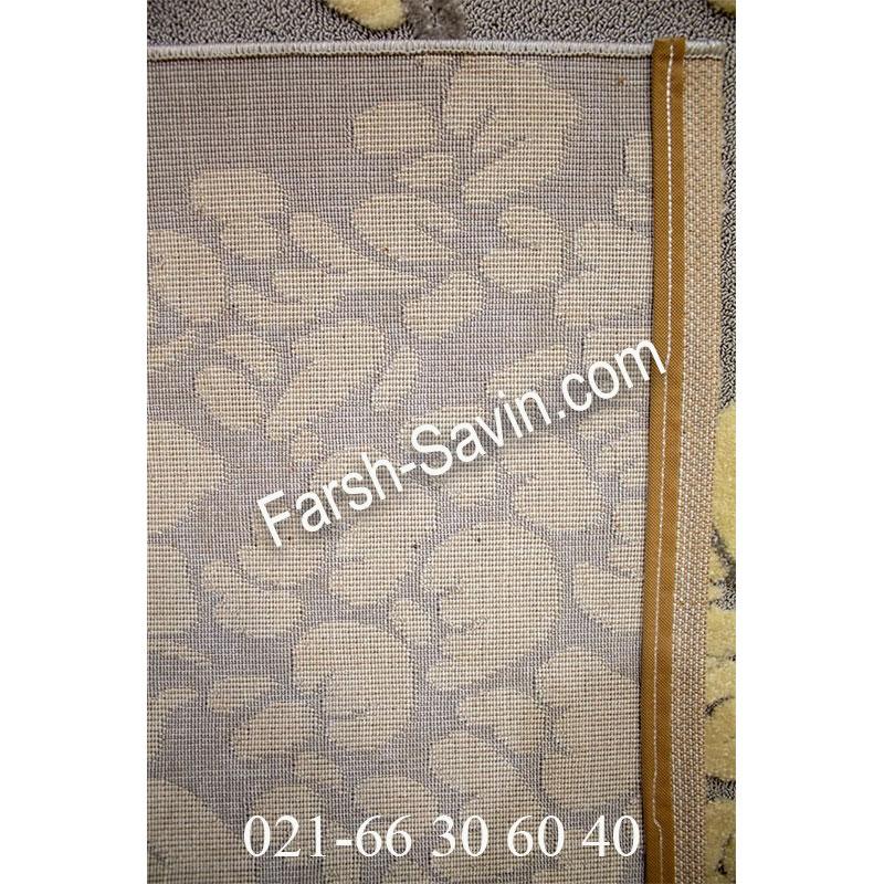 فرش ساوین 7402 نقره ای روشن فرش بادوام