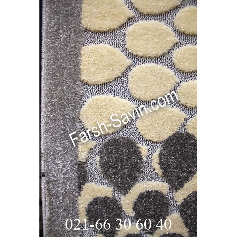 فرشش ساوین 7404 نقره ای روشن فرش ارزان