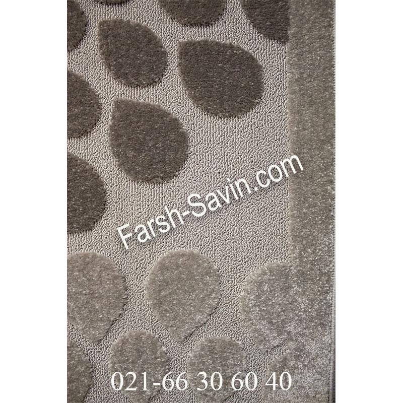 فرشش ساوین 7404 نقره ای روشن فرش مدرن