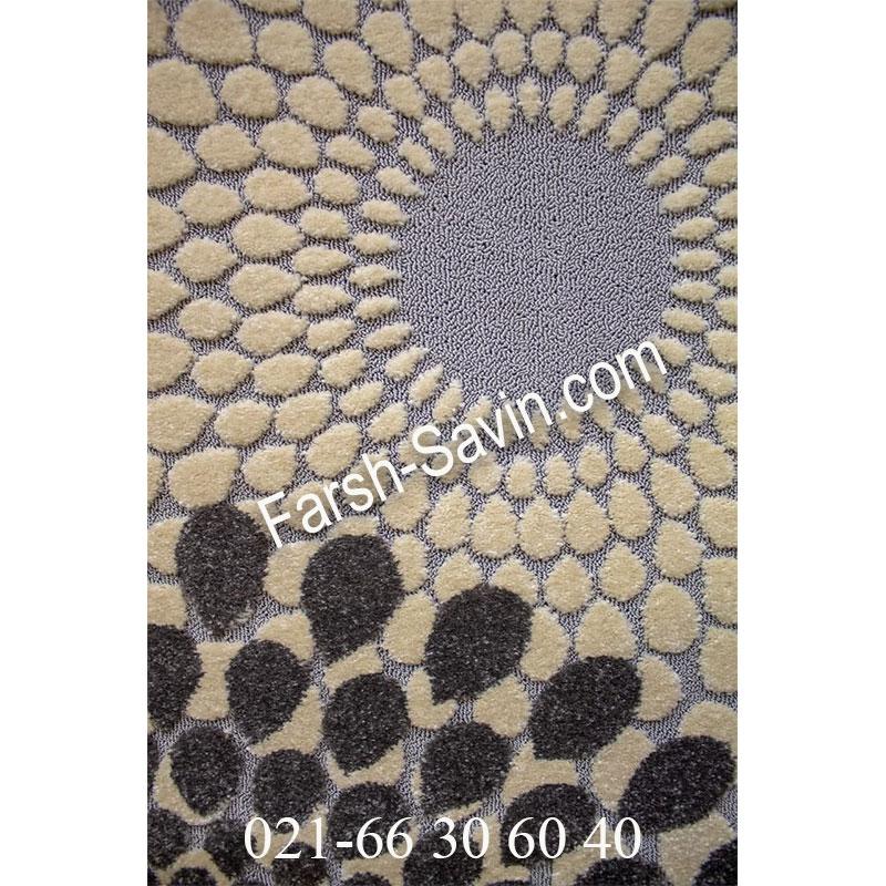 فرشش ساوین 7404 نقره ای روشن فرش فانتزی