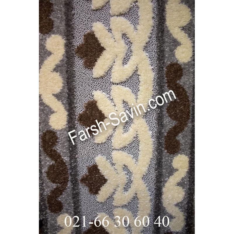 فرش ساوین 7409 نقره ای روشن فرش خاص