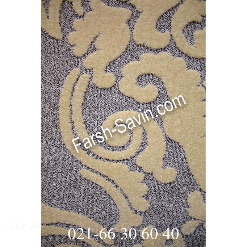 فرش ساوین 7410 نقره ای روشن فرش اتاق پذیرایی