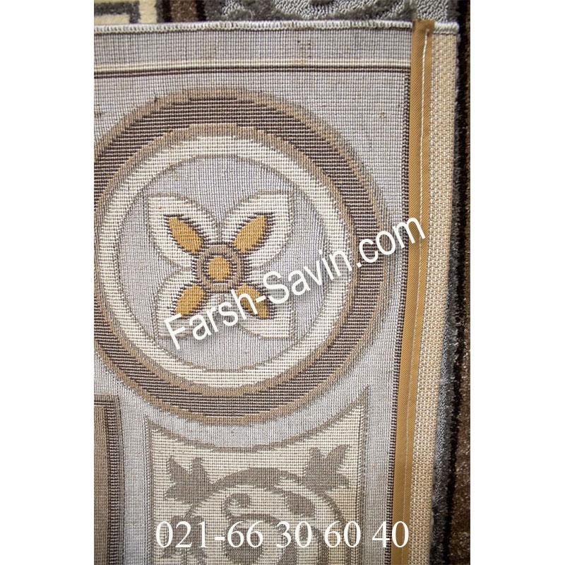 فرش ساوین 7412 نقره ای روشن فرش ارزان
