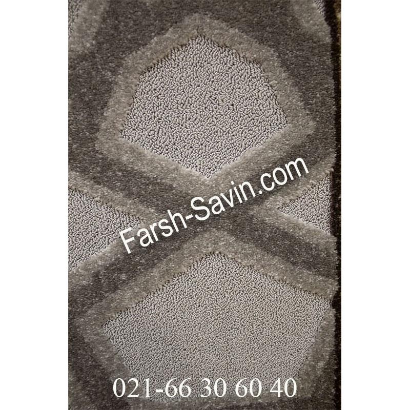فرش ساوین 7417 نقره ای روشن فرش ارزان